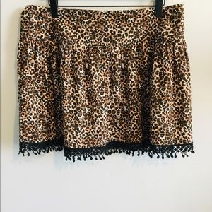 🌟SALE🌟American Rag Fringe Lace Hem Skirt